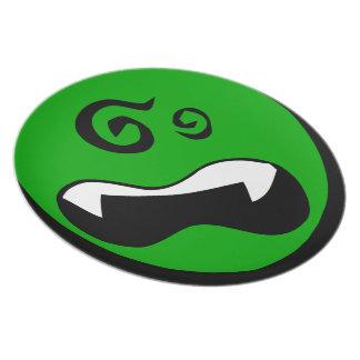Extranjeros verdes dizzy platos