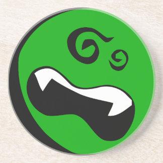 Extranjeros verdes dizzy posavasos diseño