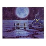 Extranjeros y luna Rover de la ciencia ficción del Tarjeta Postal