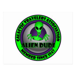 Extranjeros y tarjetas y delantales del UFO Postales
