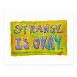 Extraño es aceptable sea diverso arte inusual únic tarjetas postales