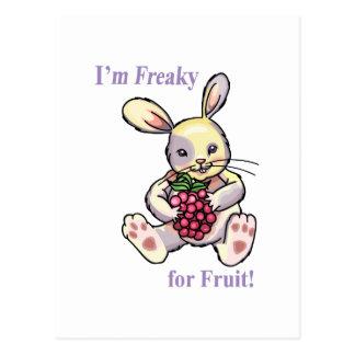 Extraño para la fruta postal