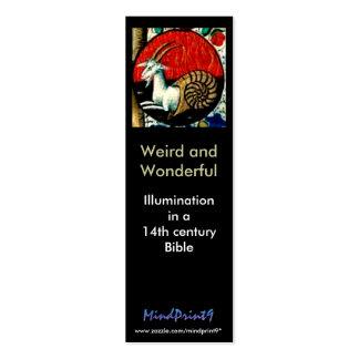 Extraño y maravilloso tarjetas de visita mini