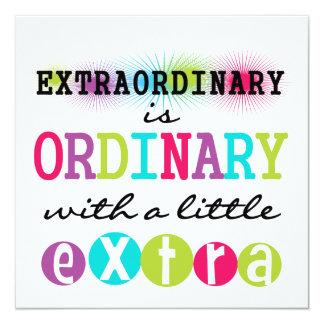 """Extraordinario Invitación 5.25"""" X 5.25"""""""