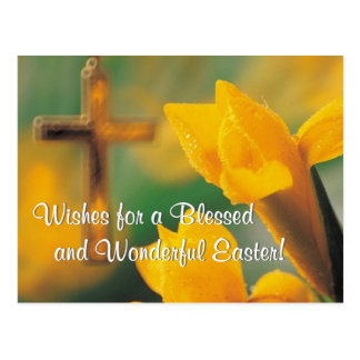 Extraordinary Blessed & Wonderful Easter Wishes! Postcard