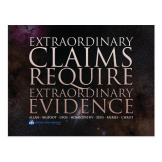 Extraordinary Claims Postcard