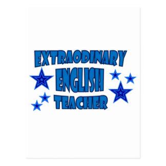 EXTRAORDINARY ENGLISH TEACHER POSTCARD