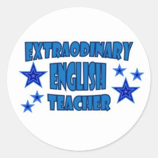 EXTRAORDINARY ENGLISH TEACHER CLASSIC ROUND STICKER