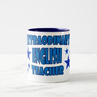 EXTRAORDINARY ENGLISH TEACHER Two-Tone COFFEE MUG