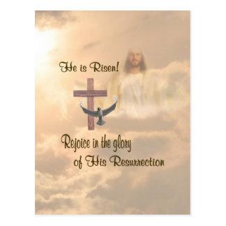 Extraordinary He is Risen Postcard
