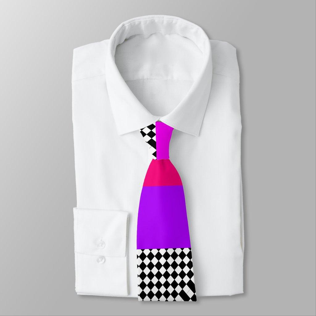 Extraordinary Men's Geometric Op Art CricketDiane Tie