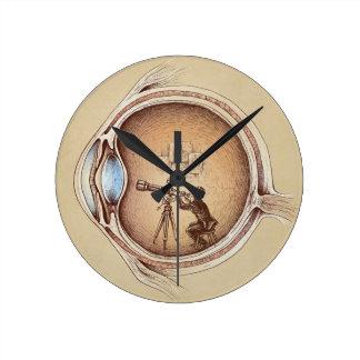 Extraordinary Observer Round Clock