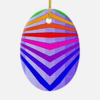 Extraordinary Rainbow Oval Ornament Keepsake 1