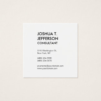 Extraordinary Size Black White Modern Stylish Square Business Card