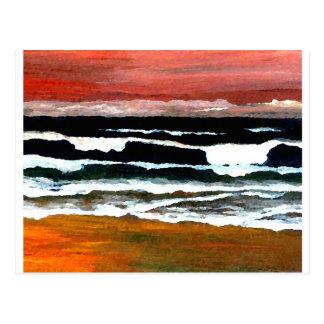 Extraordinary Sunset - CricketDiane Ocean Art Postcard
