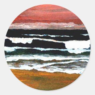 Extraordinary Sunset - CricketDiane Ocean Art Stickers