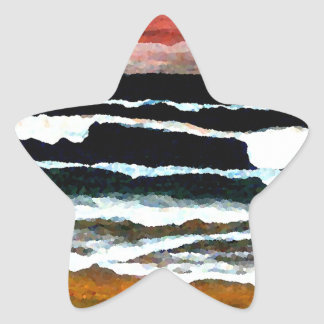 Extraordinary Sunset - CricketDiane Ocean Art Star Sticker
