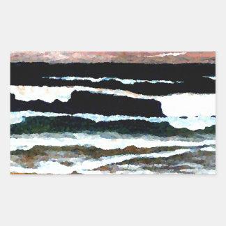 Extraordinary Sunset - CricketDiane Ocean Art Rectangular Stickers