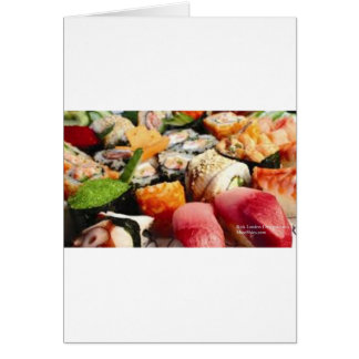 Extraordinary Sushi Plate Print Gifts Tees & Cards Cards