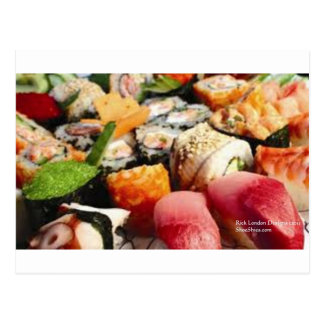 Extraordinary Sushi Plate Print Gifts Tees & Cards Post Cards