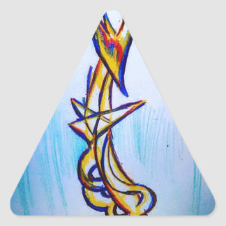 Extrapolación de los geómetras de la tolerancia pegatina triangular