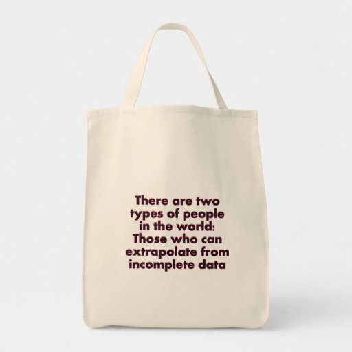 Extrapolate This... Grocery Tote Bag