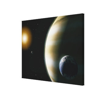 Extrasolar Planet Canvas Print