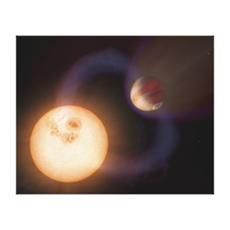 Extrasolar planet Sweeps Canvas Print