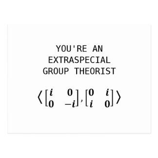Extraspecial Group Theorist Postcard