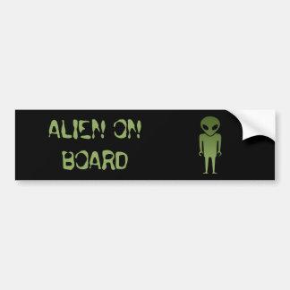 Extraterrestrial Alien Body Bumper Sticker
