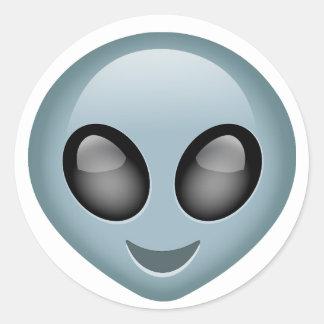 Extraterrestrial Alien Emoji Classic Round Sticker