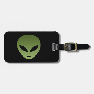 Extraterrestrial Alien Face Bag Tag