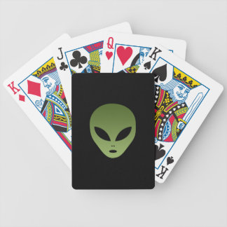 Extraterrestrial Alien Face Bicycle Playing Cards