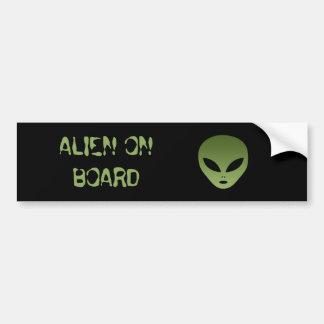 Extraterrestrial Alien Face Bumper Sticker