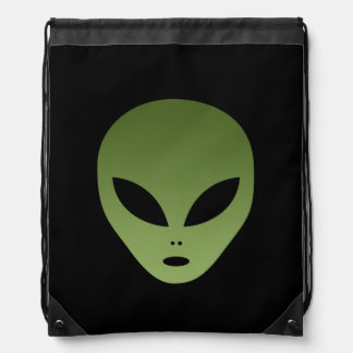 Extraterrestrial Alien Face Drawstring Backpack