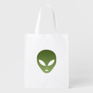 Extraterrestrial Alien Face Grocery Bag
