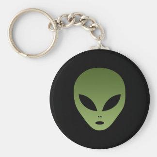 Extraterrestrial Alien Face Basic Round Button Keychain