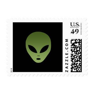 Extraterrestrial Alien Face Postage