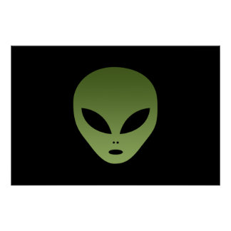 Extraterrestrial Alien Face Poster