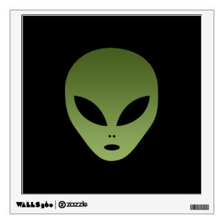 Extraterrestrial Alien Face Wall Decal