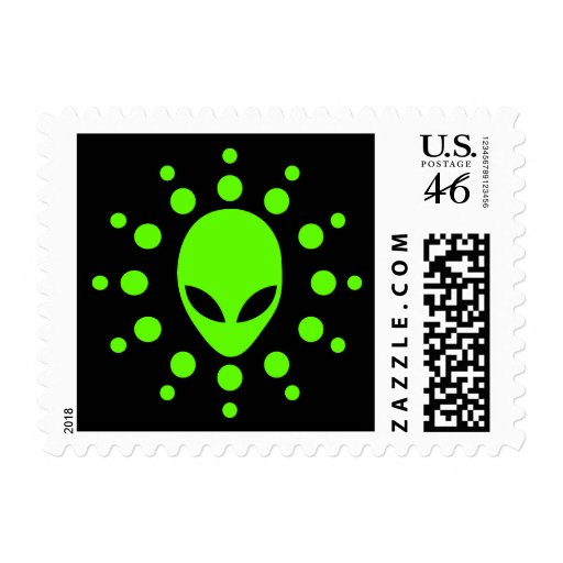 Extraterrestrial Alien Postage