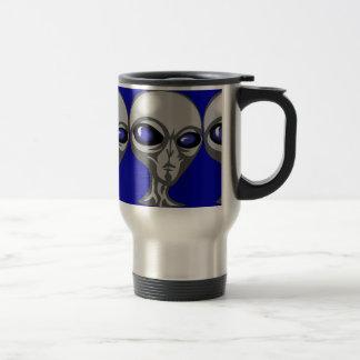 extraterrestrial cósmico enojado extranjero taza de viaje de acero inoxidable