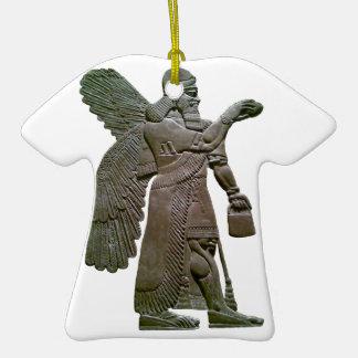Extraterrestrial extranjero sumerio antiguo de Anu Ornamento De Navidad