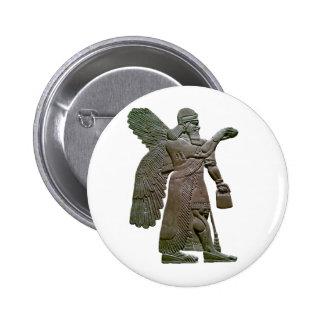 Extraterrestrial extranjero sumerio antiguo de Anu Pin Redondo 5 Cm