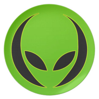 Extraterrestrial Head Party Plates