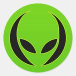 Extraterrestrial Head Stickers