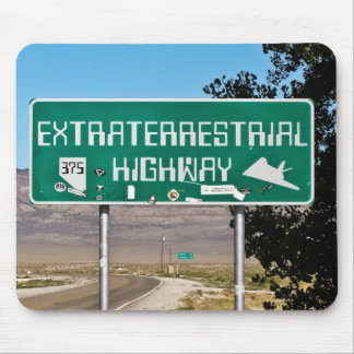 Extraterrestrial Highway Sign mousepad