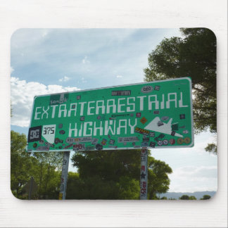 Extraterrestrial Highway Sign, Rachel, Nevada Mouse Pad