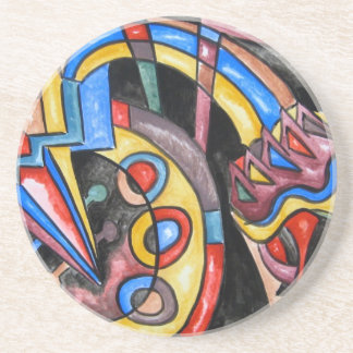 Extraterrestrial Jazz - Abstract Art Coaster