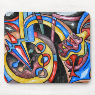 Extraterrestrial Jazz - Abstract Art Mousepad